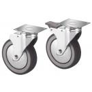 Produktabbildung Rädersatz RGP AS aus Edelstahl, Räder für Arbeitsschränke und Wärmeschränke