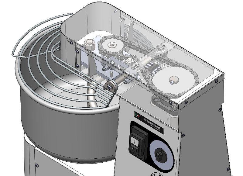 Gastro-Qualität gastlando Deckel mit Ø 360 mm aus Edelstahl
